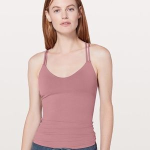 Lululemon dusty rose colored workout tank